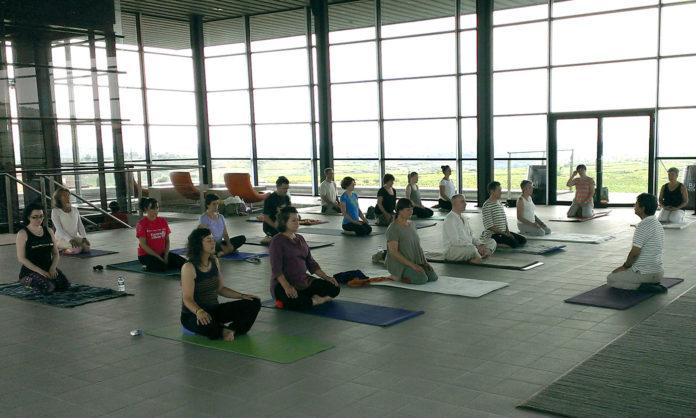 vino y yoga