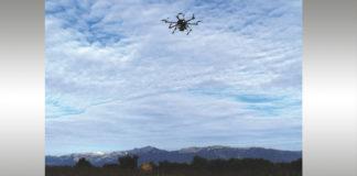 drones en el viñedo