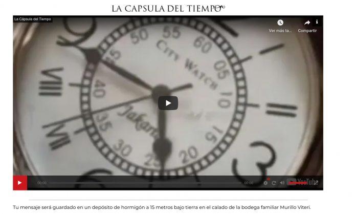 Bodegas Murillo Viteri cápsula del tiempo