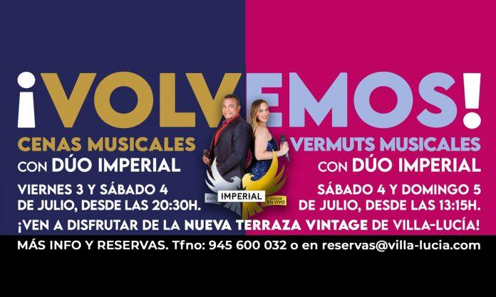 Villa-Lucía cenas y vermuts musicales